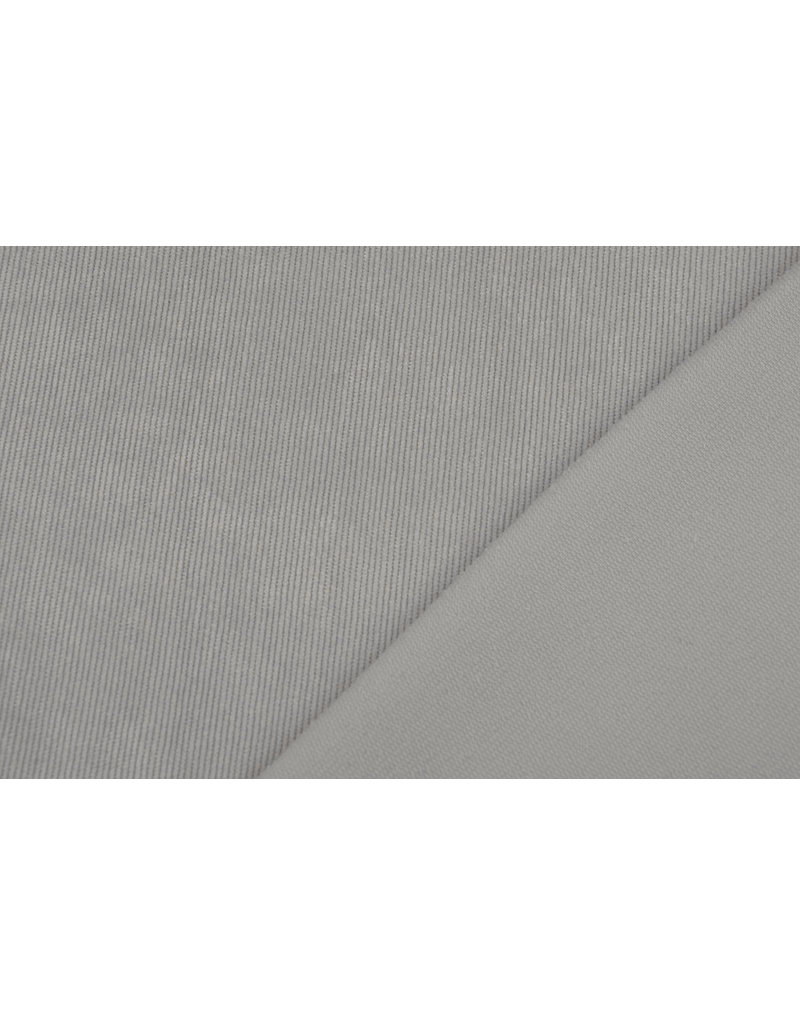 Rib Fabric 16 W Corduroy Light Grey