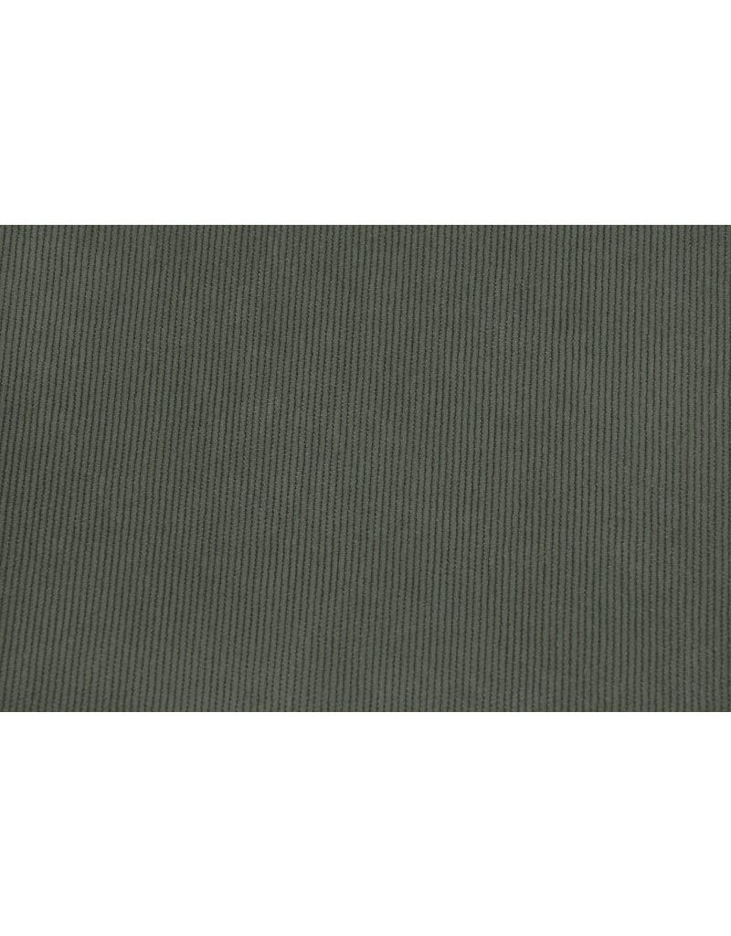 Cordstoff Dunkel-Altgrün