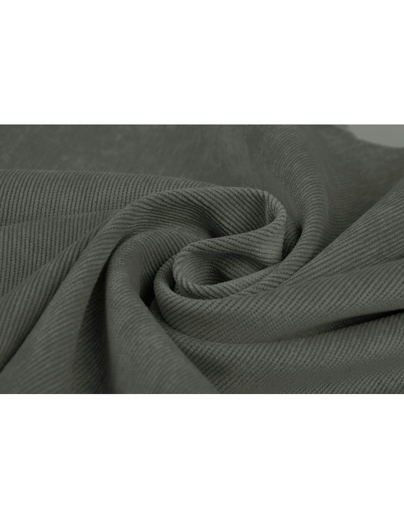 Rib Fabric 16 W Corduroy Dark Old Green