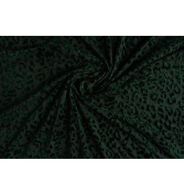 Tricot flock Panterprint Dark Green
