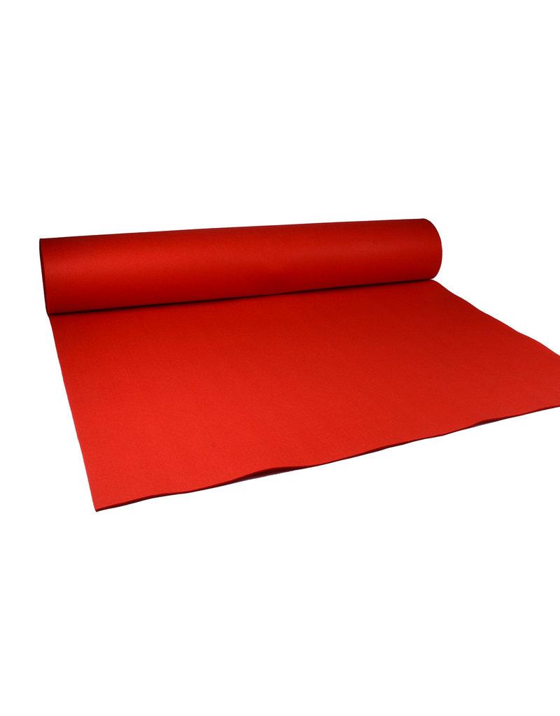 Rode loper stof Dik- 1 meter breed