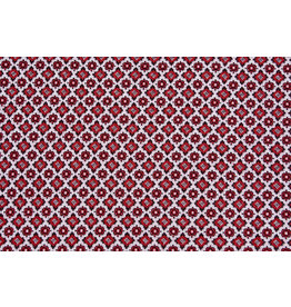 Jacquard Knitted Checked Red