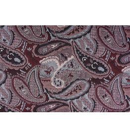 Jacquard Knitted Orient Bordeaux