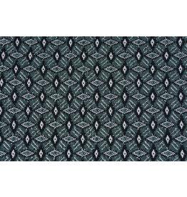 Jacquard Knitted Diamond Seagreen