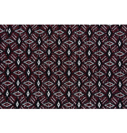 Jacquard Gebreid Diamand Bordeaux