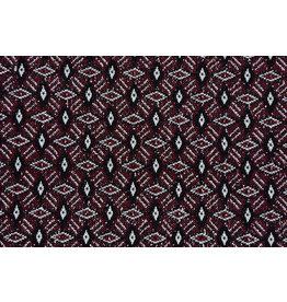 Jacquard Knitted Diamond Bordeaux