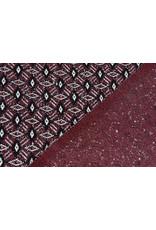 Jacquard Gestrickt Diamant Bordeaux