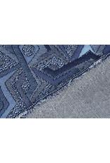 Jacquard Gebreid Picassa Blauw