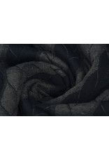 Multi Color Knitted Cable fabric tricot Navy Grey