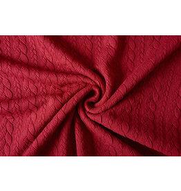 Strickstoff Zopfmuster Jersey Rot