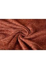 Gebreide Fleece Roest brique