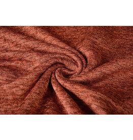 Knitted Fleece Rust brique