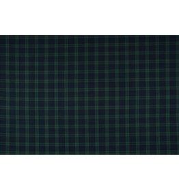Schotse ruit Stretch Klein Marine Zwart Groen