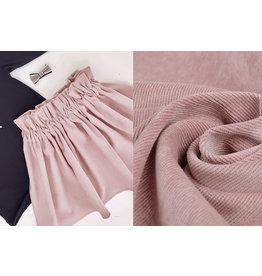 Rib Fabric Corduroy Powder Pink