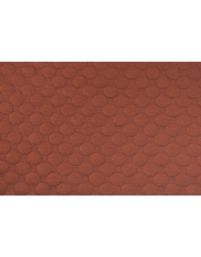 Dots Tricot Rust Brique