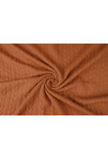 Knitted Cable fabric tricot Orange Brique