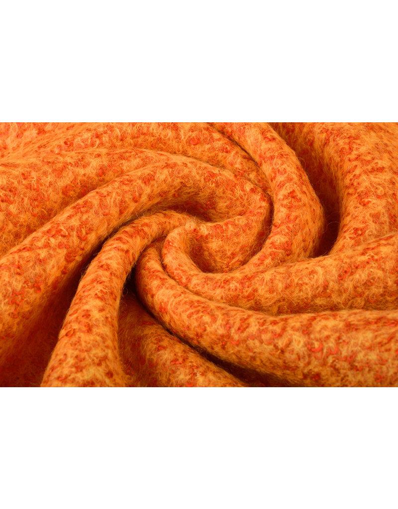 Gebreide Wollen stof Lana Oranje