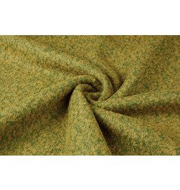 Knitted Woolen fabric Lana Ocher Green