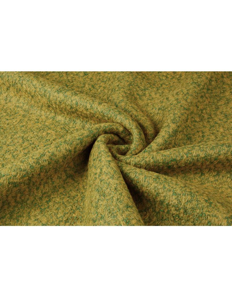 Knitted Woolen fabric Lana Ochre Green