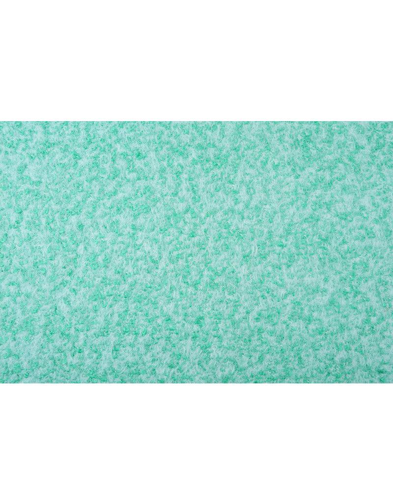 Gebreide Wollen stof Lanoso Mint Wit