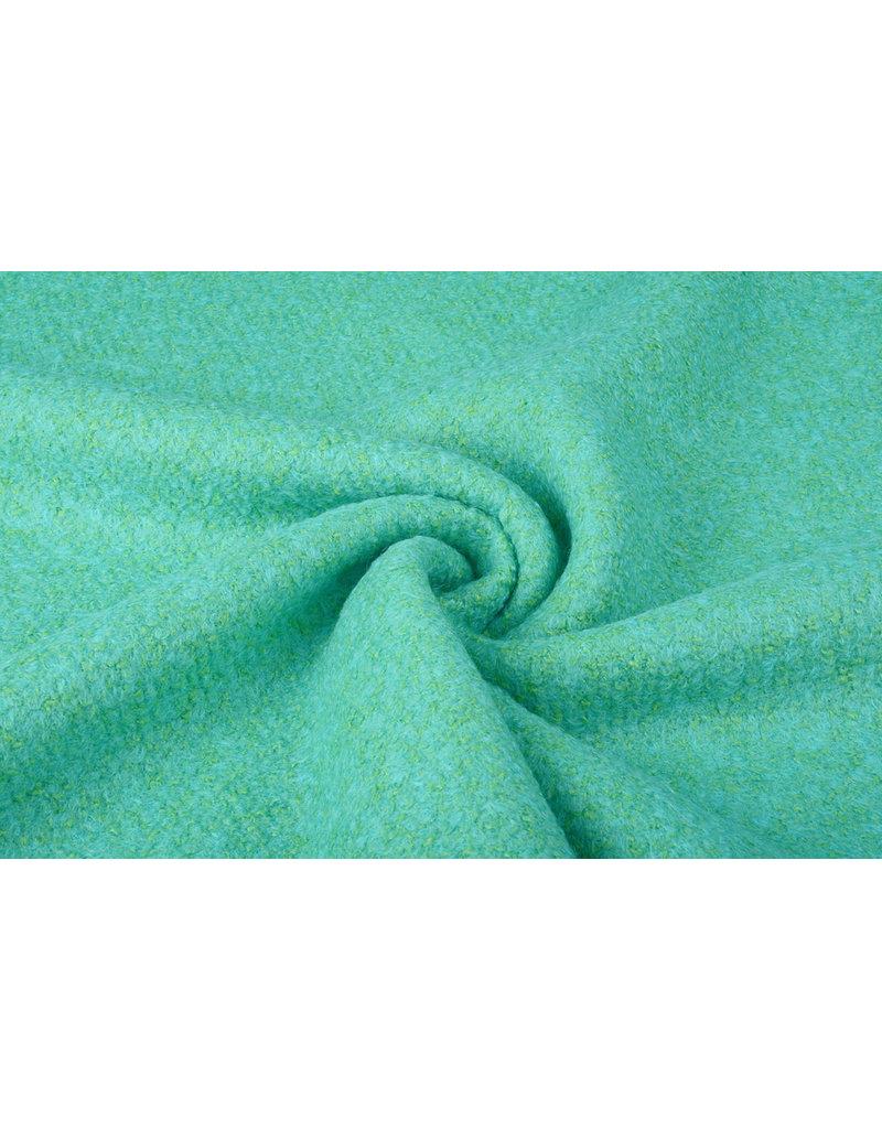 Knitted Woolen fabric Lana Light Blue Green