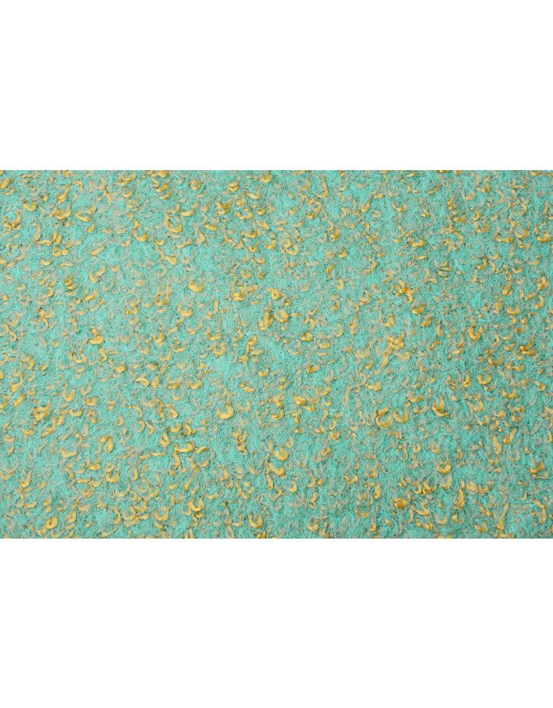 Knitted Woolen fabric Lanoso Aqua Gold