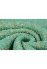 Gebreide Wollen stof Lanoso Aqua Goud