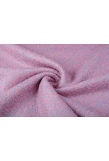 Knitted Woolen fabric Lanoso Pink Blue