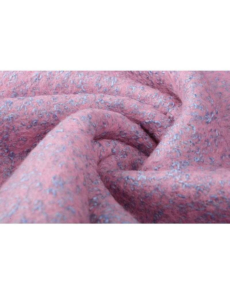 Gebreide Wollen stof Lanoso Roze Blauw