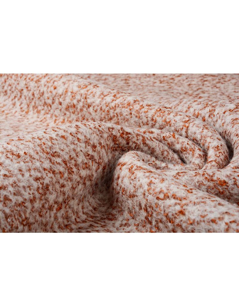 Gebreide Wollen stof Lanoso Donker Brique
