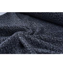 Gebreide Wollen stof Net Zwart