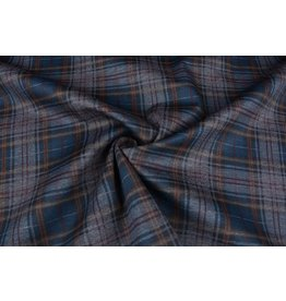 Punta Di Roma Scottish Tartan Petrol Blue