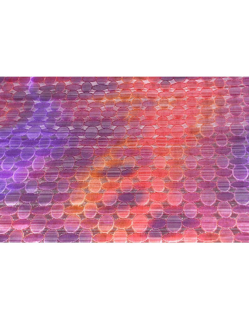 Brokaat Cirkel Multicollor Paars Roze