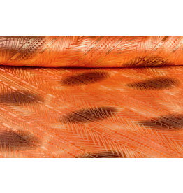 Brokat Streifen Orange