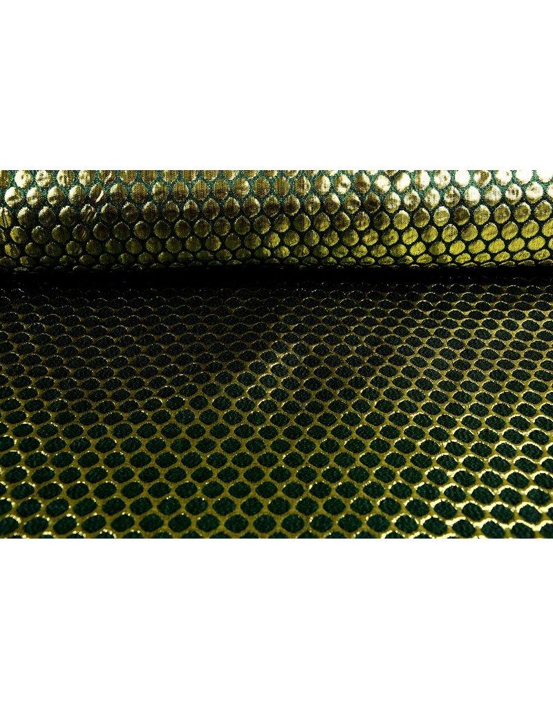 Brokat Großer Dot Grün gold