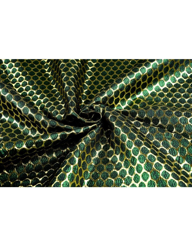 Brocade Large Dot Green Gold
