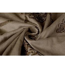 Cotton Corduroy Rib Ribbon Mokka Brown