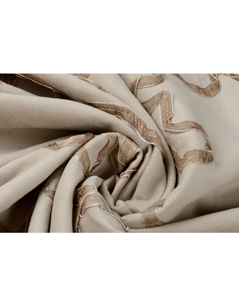 Cotton Corduroy Rib Ribbon Light Sand