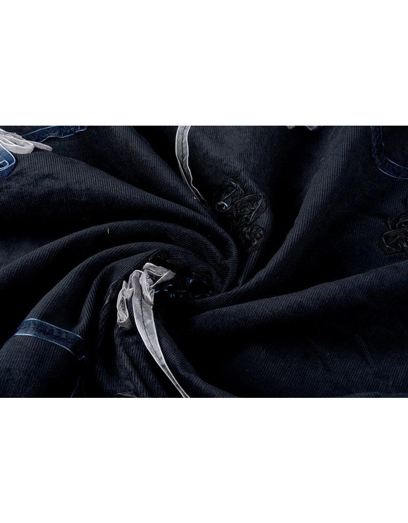 Cotton Corduroy Rib Ribbon Black