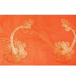 Cotton Corduroy Rib Ribbon Orange