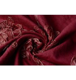 Katoen Corduroy Rib Lint Bordeaux