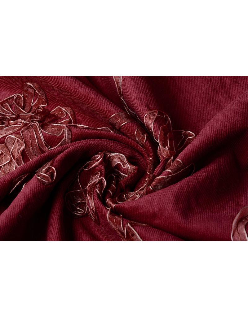 Cotton Corduroy Rib Ribbon Bordeaux