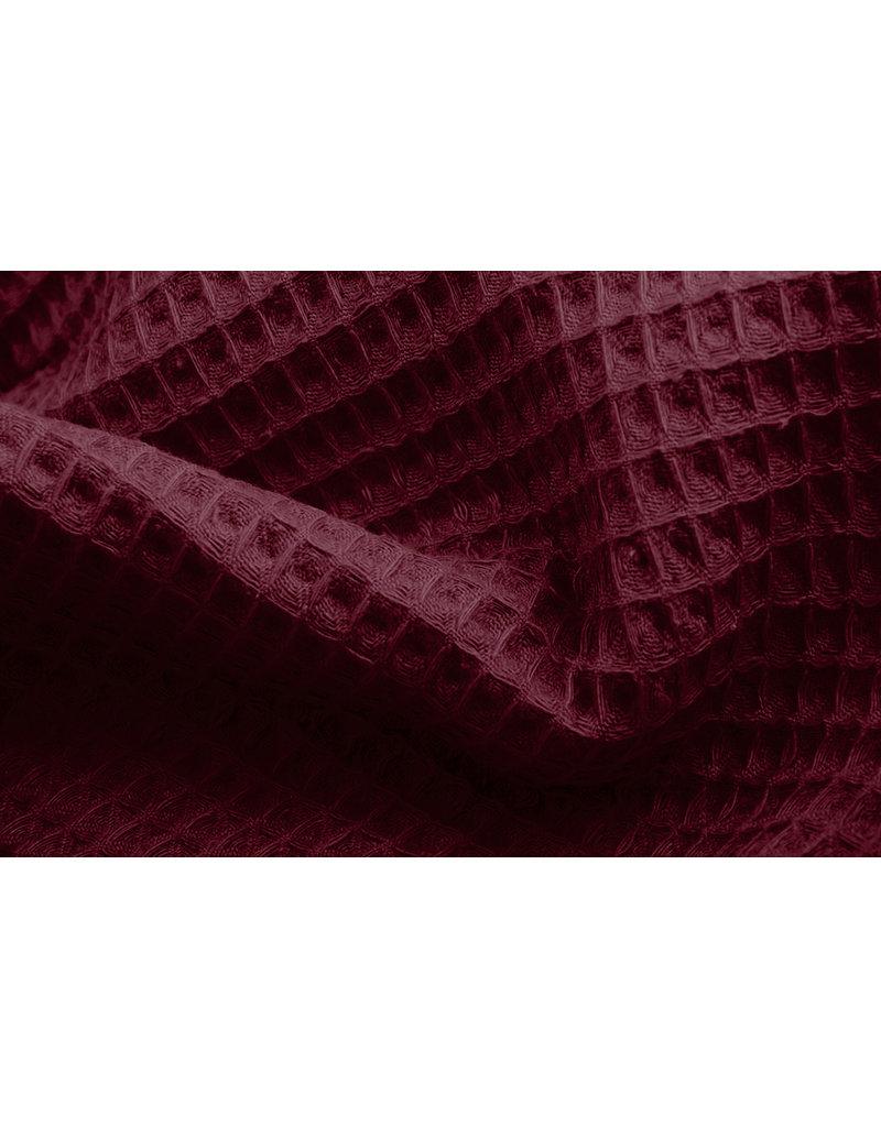 Wollstoff Pied de Poule Röt-Schwarz