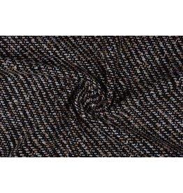 Grof geweven mantelpak stof Bouclé klein Bruin