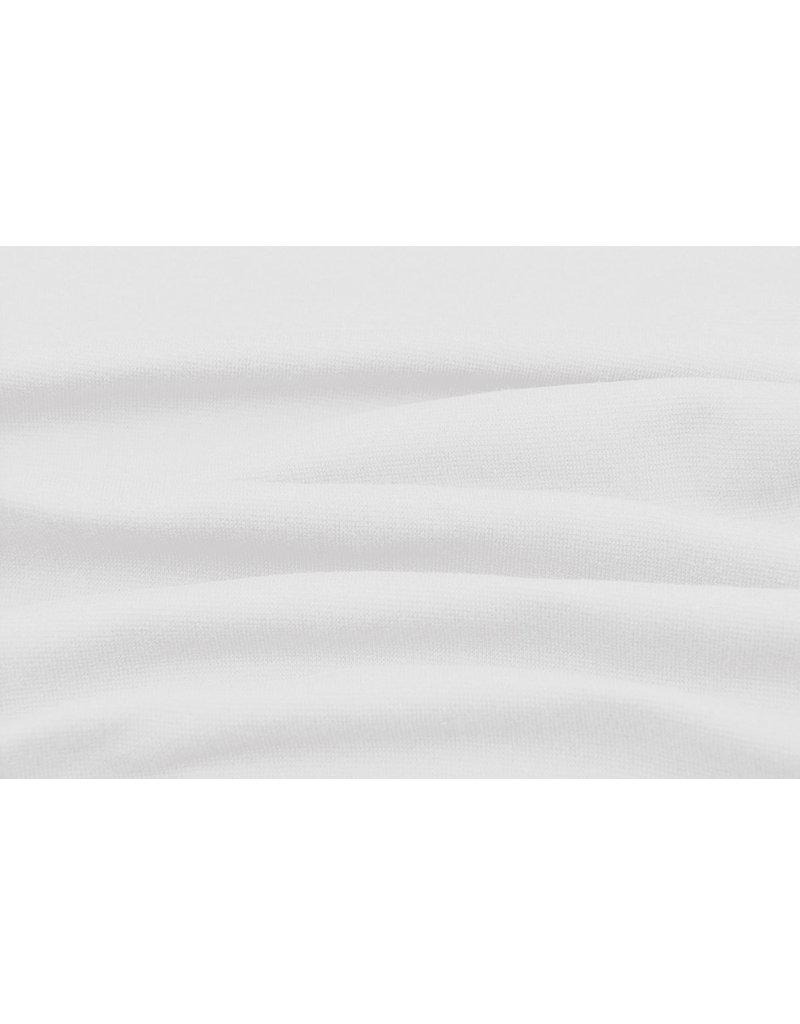 Bündchenstoff Weiß