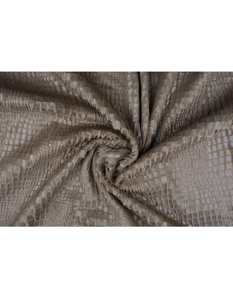 Fur Snake Foil Shiny Taupe