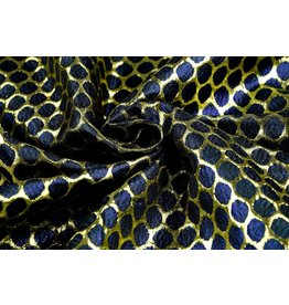 Brocade Large Dot Blue Gold