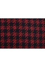 Woolen fabric Pied de Poule Red-Black