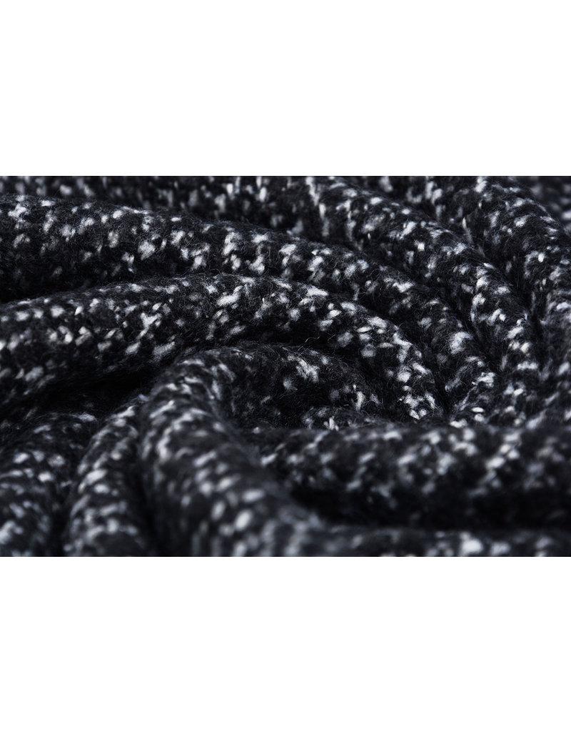 Wool look Fish bone Black and white
