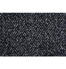 Wollenlook Vissengraat Zwart wit